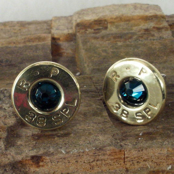 Bullet Earrings May Birthstone Emerald Ultra Thin