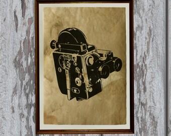 Brown Antique Paper Vintage camera print Old looking decoration AK194