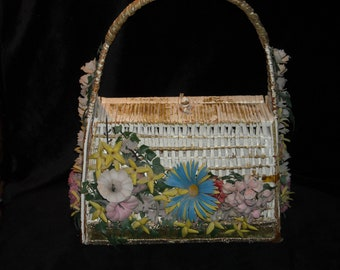 Vintage Soure' Bag New York Wicker Handbag