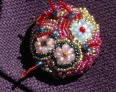Beaded Floral Brooch Jewelry