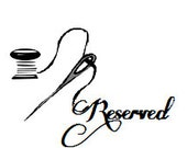 Reserved Listing for Ashley Gil