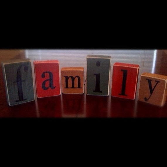 Items similar to rustic word blocks home decor choose for 6 letter word for living room