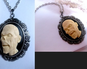Cameo - The Walking Dead Fashion Zombies Are Real - Halloween - Walking Dead Zombie Monster Necklace - 3D