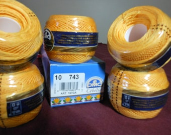 DMC Cebelia Goldenrod yellow Crochet Thread