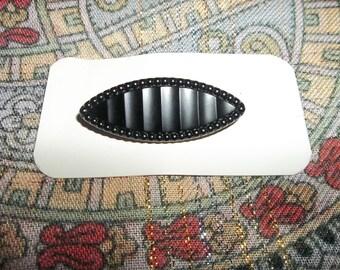 """Vintage Bakelite Brooch...New Old Stock...2"""" Wide...Black"""