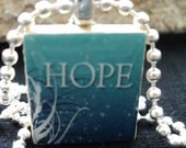 Hope Scrabble Pendant