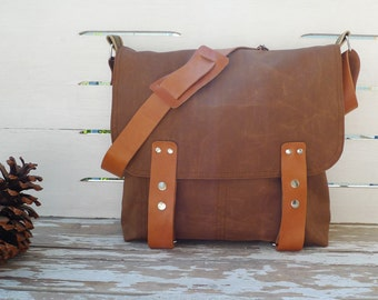Free Express Shipping - Canvas Messenger Bag  / Cross Body Messenger  / School / Travel / Laptop bag Diaper bag