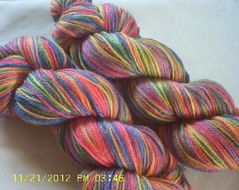 """Crayon Box - Hearthside Fibers """"BaaBoo 4.0"""" - Superwash Merino/Bamboo/Nylon Hand Dyed Sock Yarn"""