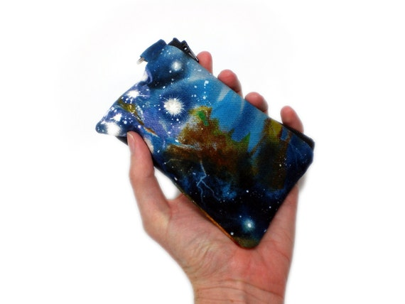 Nebula 5in space wallet card holder coin purse