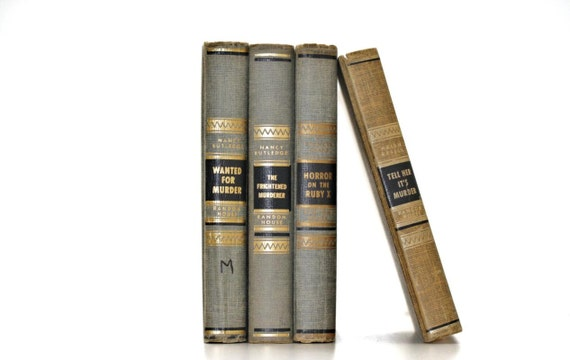 Front Page Featured-Vintage Mystery 4 Book Collection By nancy Rutledge First Printing