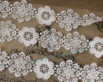 Venice Lace Trim in Ivory - Bridal Lace Trim ,Wedding Dress Supplies Costume Jewelry Design