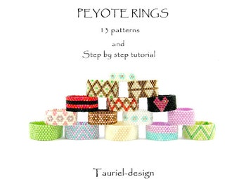 Peyote rings 13 patterns