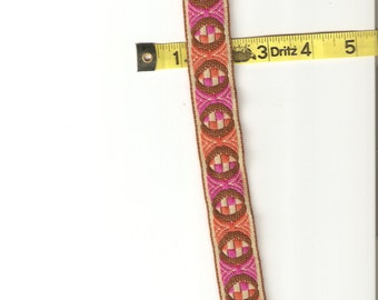 "Groovy Vintage 1"" Embroidered Trim - 1 yd"