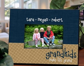Personalized Frame for Grandparents : Personalize with Names of Grandchildren