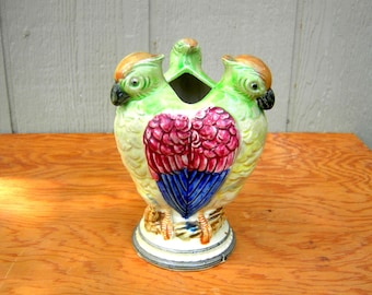 vintage bird vase japanese ceramic flower vase