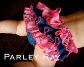 A Beautiful Parley Ray Pink Cowgirl Denim Western Ruffled Diaper Cover/ Baby Bloomers/ Photo Prop