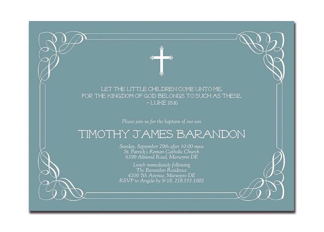 Make Your Own Christening Invitations with nice invitation sample