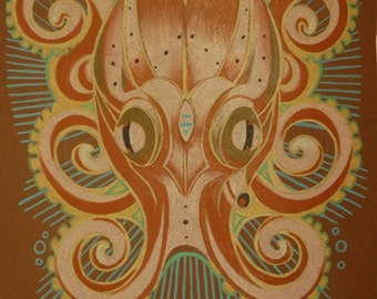 octopus art, totem art, spirit animal, hi-res digital download
