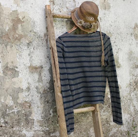 Nautical Linen Sweater