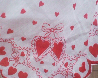 Vintage 1940s Apron Aprons  Sheer Organdy Valentines Day Rockabily Housewife