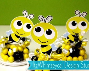 Bumble Bee Birthday / Bumble Bee Party / Bumble Bee Party Favors / Bumble Bee Baby Shower / Bumblebee / Candy Container / Party Favor Boxes