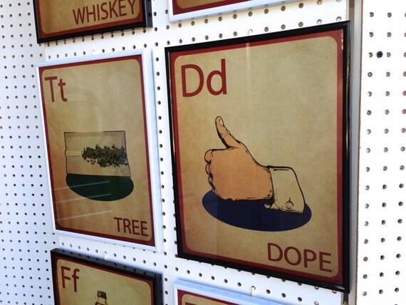 DOPE Vintage Flashcard Style Print