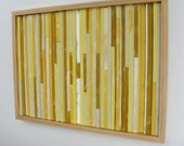 Distressed Rustic  Modern Wood Wall Art Painting Abstract Sculpture