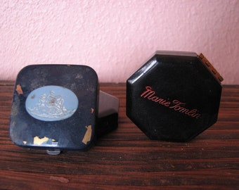 Two Marie Tomlin Compacts and One Dorothy Gray