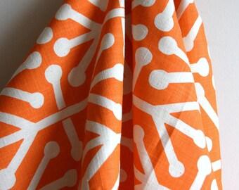 Aruba Feliz in Mandarin / Dosset Home Decor Weight Fabric from Premier Prints - ONE HALF YARD