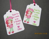 Personalized Strawberry Shortcake Favor Tags