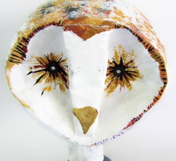 Owl - Paper Mache -  Animal Sculpture