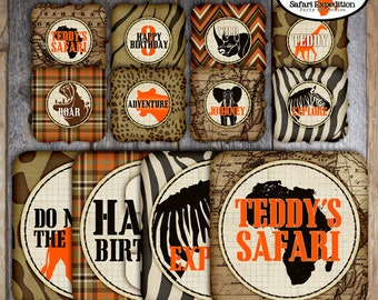 Safari Party Signs | Jungle Safari Sign | African Safari Sign | Safari Decoration | Safari Centerpiece Signs | Vintage Safari | Printable