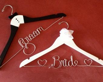 Set 2 Fabulous bride and groom wedding hangers