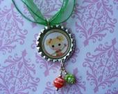 Lalaoopsy Bottlecap Christmas Necklace
