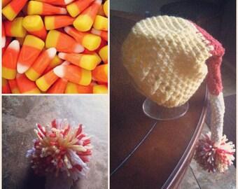 Crochet Candy Corn Stocking Cap