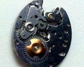 Steampunk watch part pendant
