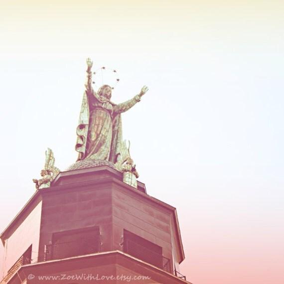Montreal Photography, Our Lady of the Harbor, Virgin Mary Statue, Notre Dame de Bon Secours Church Art, Dreamy Fine Art Photo, Home Decor