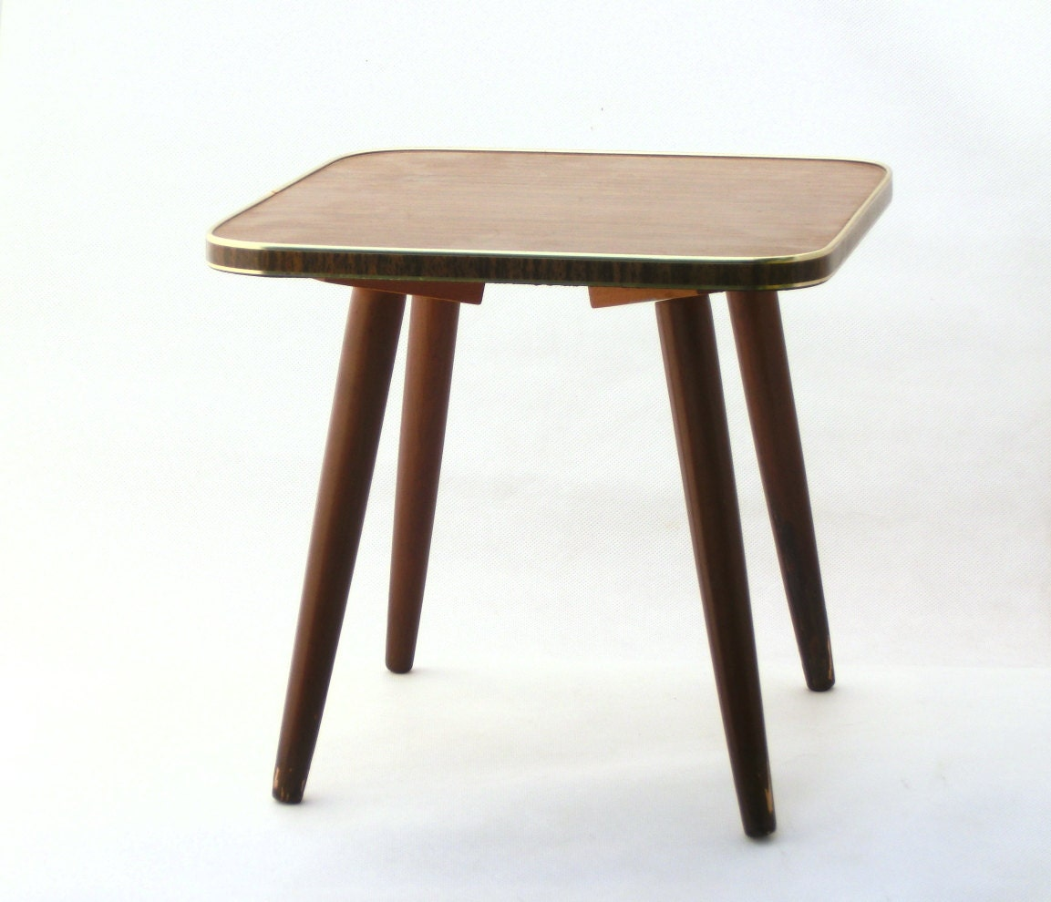 Mid century table small coffee table 60s by artmavintage for 60s coffee table