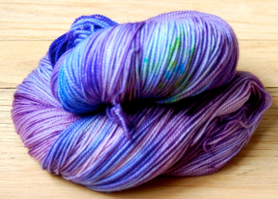 Morningside Sock Yarn - GRAPEVINE - (100% Superwash Merino Yarn) - Fingering/Sock Weight - Hand Dyed, One of a Kind - 400yds/100g