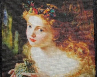 Printed Sew On Patch - FAIR FACE FAIRY - Sophie Gengembre Anderson 1823-1903 - p204