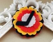 Hockey Headband - Black White Orange Custom Listing for Jacqui