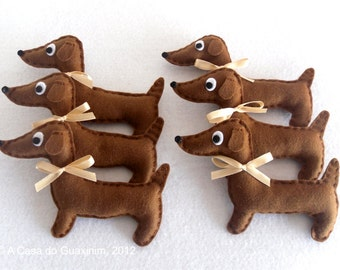 Party Favor - Dachshund - Set of 6