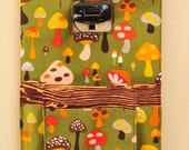 Mushroom and Woodgrain Cell Phone Wall Socket Charging Holder