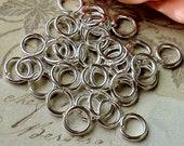 7 mm Silver Plated (Medium) Jump Rings (.mmsa)
