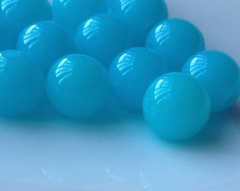 10 mm Baby blue  Round Shape Jelly Candy Acrylic Beads. (.ma)