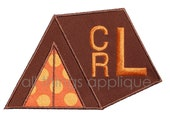 Tent Applique Design - Machine Embroidery - Camping - INSTANT DOWNLOAD