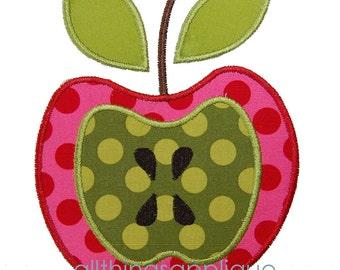 Apple Applique Design - 3 Sizes - Back to School Applique - INSTANT DOWNLOAD