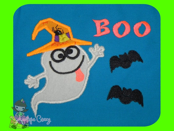 Silly Ghost Applique design