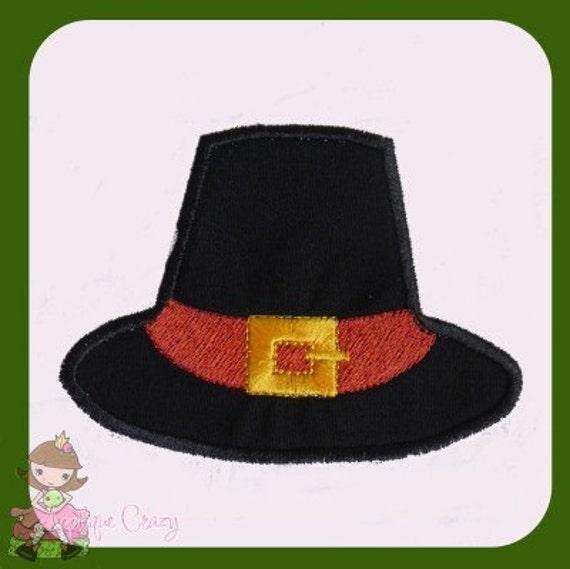 Pilgrin Hat Applique design