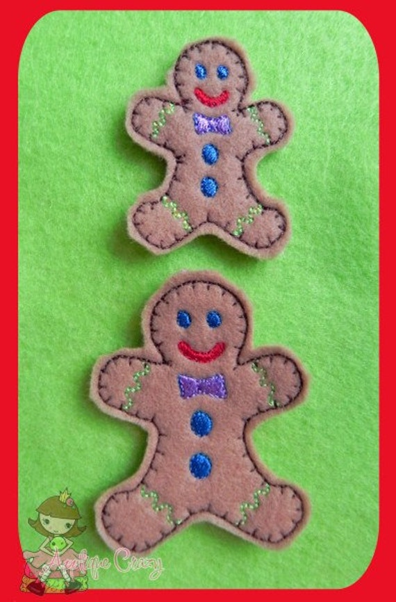 Gingerbread Man feltie design